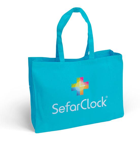 Bolsa merchandising SefarClock, servicios para farmacias
